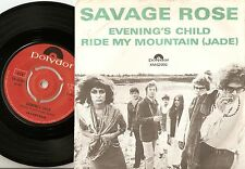 THE SAVAGE ROSE EVENING`S CHILD & MOUNTAIN DANISH 45+PS 1968 KOPPEL PROG PSYCH