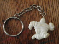 VINTAGE PLASTIC MICHELIN MAN TIRES KEYCHAIN PROMOTIONAL ADVERTISING USA AUTO CAR