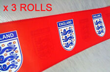 Official Licensed England Football Wallpaper Border Red Emblem Bulk Deal 3 Rolls