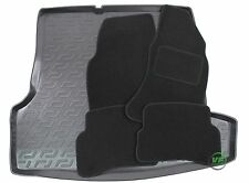 VW PASSAT B5  SALOON 1997-2005 Tailored black floor car mats + boot tray mat