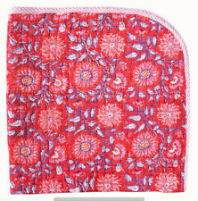 Kantha Baby Quilt Indian Handmade Bedding Toddler Blanket Bedspread Cotton Throw