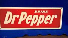 """Vintage Dr Pepper sign 7"""" x 20"""" old cola bottle pepsi coca soda"""