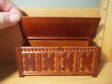 TUDOR STORAGE CHEST -JBM MINIATURES  - DOLL HOUSE MINIATURE