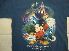 Walt Disney World Four Parks One World Mickey Mouse Souvenir T Shirt Size S