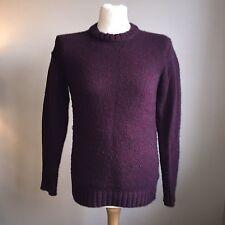 Super Dry Wolle Pullover/Pulli/Pullover Größe Medium Navy blau und lila
