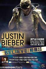 """Justin Bieber"""" Believe Tour """"2013 Macao, China Concierto Poster-Pop, Teen Pop"""