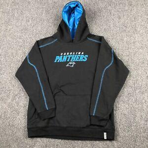 Vintage Carolina Panthers Hoodie Youth Kids Large NFL Pullover Sweatshirt Reebok