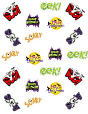 "Halloween Phrases "" BOO"" ""EEK""  Halloween Waterslide Nail Decals/Nail Art"