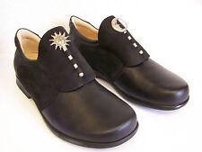 Think! Schuh Pensa Classiker schwarzer Slipper Sonne - Mond & Schuhbeutel