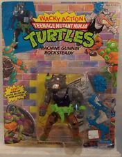 Teenage Mutant Ninja Turtles TMNT 1990 Wacky Action Machine Gunnin' Rocksteady