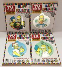 The Simpsons TV Guide Book Lot 2004 Christmas Tree Ornaments Lenticular