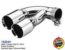 Auspuff Endrohre 76mm Edelstahl verchromt fur BMW 1er F20 F21 M Performance