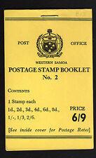 Samoa 1965 6/9 D Completa folleto sb13.