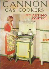 ROBERT  OPIE  ADVERTISING  POSTCARD  -  CANNON  GAS  COOKERS