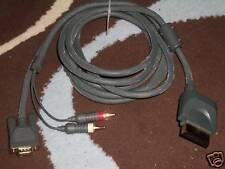 Microsoft Xbox 360 Cable VGA AV Monitor plomo ADAPER Salida Óptica de Audio Estéreo Fuera