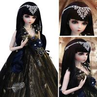 60cm 1/3 BJD Puppe Doll mit Gesicht Make-up Kleidung Perücken Mädchen Geschenk