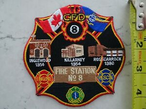 CALGARY FIRE STATION 8 HISTORY PATCH ALBERTA AB CANADA CANADIAN 2015