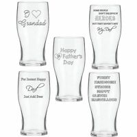 Personalised Engraved Pint Beer Glass Birthday Gift Fathers Day Gifts For Him