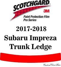 3M Scotchgard Paint Protection Film Pro Series Fits 2017 2018 Subaru Impreza