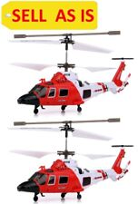 Sell As Is 2pcs Syma S111G Rc Gyro Infrared Helicopter Coast Guard Rescue Used