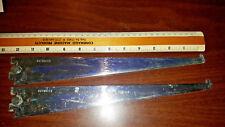 """Vintage Outwate  Slot 12"""" Shelf Brackets Hangers Brushed Silver Color - Set of 2"""