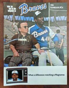 Hank Aaron 715 Home Run Game Original Program vs. Dodgers 1974 Atlanta Braves MN
