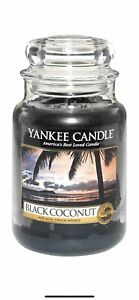 YANKEE CANDLE LARGE JAR BLACK COCONUT