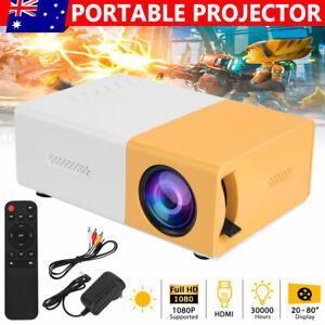 Portable Mini Pocket Projector LED Home Theater Cinema HD 1080P HDMI USB AU
