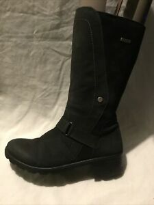 Ricosta Ladies Mid Calf Boots UK Size 5 EU Size 38 Black Leather/ Suede