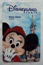 CARTE DE COLLECTION DISNEYLAND PARIS / BASSE SAISON MICKEY / ENFANT
