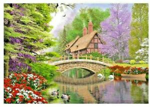 Castorland 1000 Pieces River Cottage Jigsaw Puzzle Brand New Sealed C-102365-2