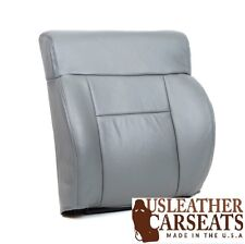 2004 Ford F150 Lariat Driver Side Top Lean Back Leather Seat Cover Gray