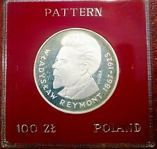 POLAND ~ 100 ZLOTY 1977 ~ REYMONT ~ PROBA PATTERN ~ CHOICE PROOF IN CASE