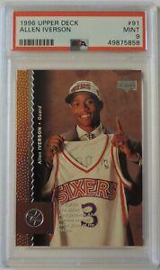 Allen Iverson 1996 Upper Deck #91 Rookie Card PSA 9