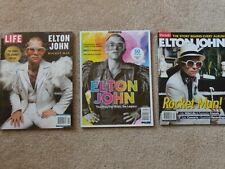 Elton John set of 3 magazines all 2019: Life, Music Spotlight, Parade exc. cond.