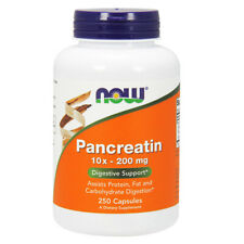 Pancreatin, 10xConcentrate, 200mg x 250 Caps - NOW Foods