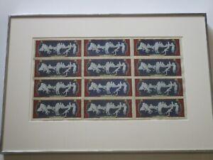 KAREN JOSSEL DRAWING COLLAGE ON $2 DOLLAR BILLS AMERICAN POP OP ART MODERNISM