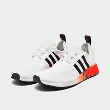 Adidas NMD R1 Casual Shoes White / Black / Solar Red Sz 13 FV3648