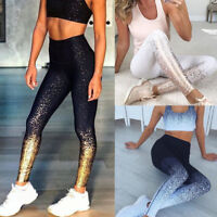 Women's Workout Leggings Fitness Sports Gym Running Yoga Athletic Pants Tops