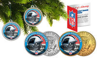 CAROLINA PANTHERS Colorized JFK Half Dollar 2-Coin Set NFL Christmas Ornaments