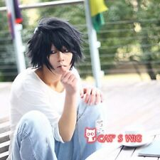 DEATH NOTE L Lawliet Short Layered cosplay kostüm perücke