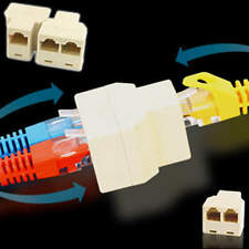 RJ45 Ethernet Connector Splitter 1to2 sockets Internet Cable Cat5e Cat5 5pcs/lot