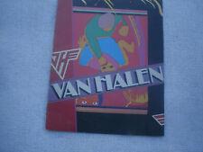 Van Halen concert programs