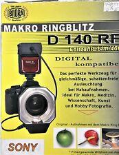 Bilora MACRO RING FLASH D 140 RF per Sony/Minolta Nuovo in confezione