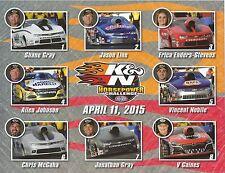 2015 Las Vegas April 11, 2015 K&N HorsePower NHRA Drag Racing Pro Stock HANDOUT
