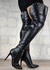 Cuissardes sexy pointues pics : noir