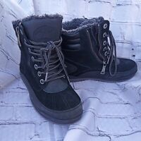 Pajar side Zip Up Faux Fur Winter Boots Black Size 8-8.5 Women's
