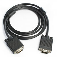 15ft 25ft VGA SVGA 15Pin Maleto Male M/M Monitor Cable Lead For PC TV Laptop Lot