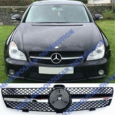 MERCEDES-BENZ w219 05-08, Nero/Cromato single-FIN Grille, CLS 55/63AMG Sport Look
