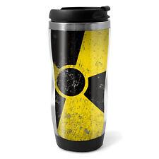 Radioactive Warning Travel Mug Flask - 330ml Coffee Tea Kids Car Gift #8950